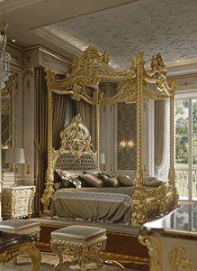 M05 Lit avec auvent, Magnifique lit à baldaquin