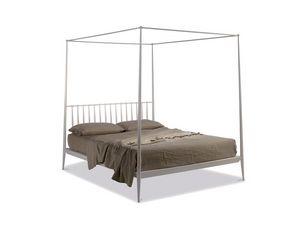 Urbino lit à baldaquin, Lit à baldaquin en métal conique, style minimaliste