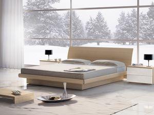 Lit Design 06, Lit double en bois avec rangement