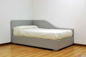Thom, Lit simple pour garçons avec deux têtes de lit rembourrées amovibles