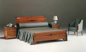 2465 lit, Lit classique en bois incrusté