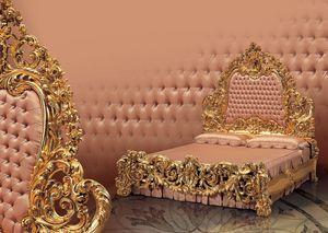 320, Lit double de luxe avec pied, pour le château