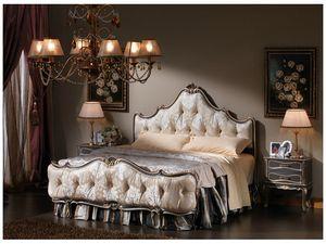 3465 LIT, Lit dans un style classique, en touffe pied de lit et tête de lit