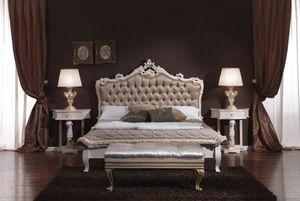 3645 LIT, Boutonné lit double idéal pour les hôtels et les chambres