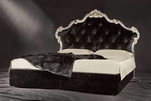Valeria, Lit de luxe rembourré avec tête de lit matelassé