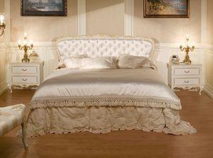 Art. 1070, Lit avec tête de lit matelassé, style classique de luxe