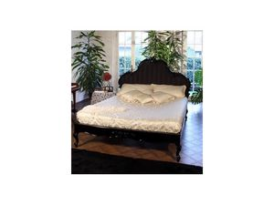 Art. 1660 Angelica, Décoré et sculpté lit en bois pour chambre d'hôtel