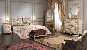 Art. 2006/970, Lit de luxe, de style Louis XVI, avec des décorations faites à la main