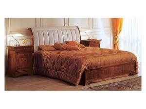 Art. 2026/279/P '800 Francese Luigi Filippo, Lit de style classique, tête de lit capitonnée, pour hôtel de luxe