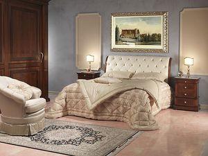 Art. 2026/952/2/C bed, Lit de luxe, en bois et en cuir, pour les 5 étoiles hôtel