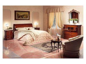 Art. 2026/952/2/L bed, Lit décoré à la main, en bois, pour les chambres de style classique
