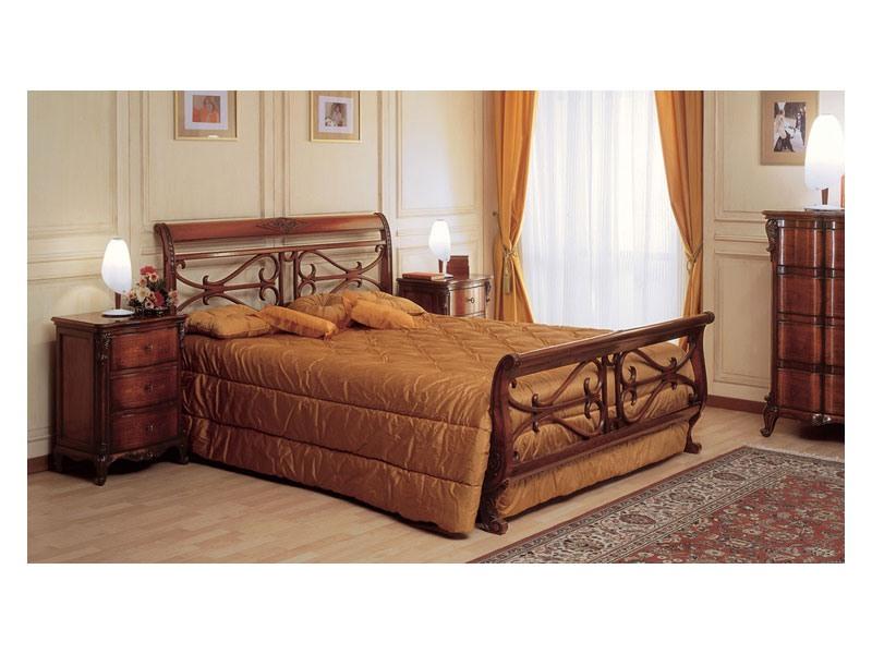 Art. 294/T '700 Francese, La main de lit en bois, chambre classique ameublement