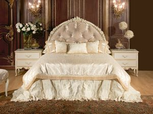 Art. 528, Lit 800-style, avec tête de lit et bedframe, en tissu