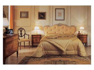 Art. 985 '700 Italiano Maggiolini, Chambres avec des sculptures faites à la main, de l'or et finition à la feuille d'argent