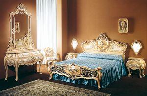 Art. B-245, Lits classiques de luxe décorées à la main, pour la chambre à Hôtel