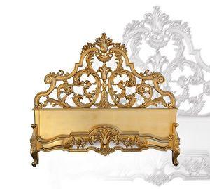 Bed art. 75/a, Lit en bois sculpté à la main, style baroque