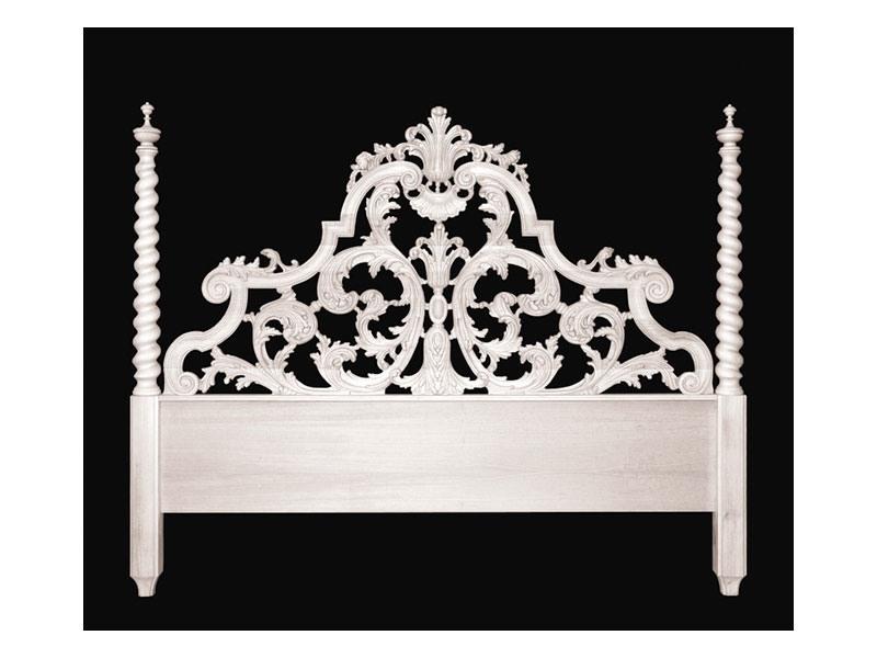 Bed art. 75/a Special, Lit de style classique avec tête de lit avec deux colonnes