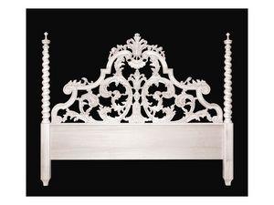 Bed art. 75/a Special, Lit de style classique avec t�te de lit avec deux colonnes