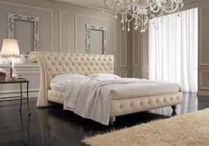 Chesterfield, Style anglais lit, tête de lit capitonné, pour les chambres, les hôtels, villas