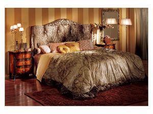 Florence bed, Lit de style classique avec tête de lit rembourrée