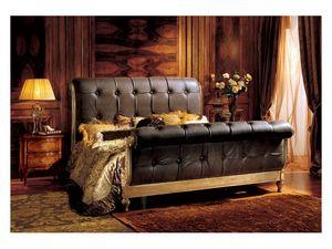 Gardenia bed, Lit de luxe avec tête de lit et pied matelassé