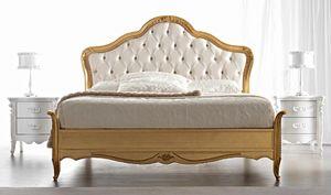 Gemma Art. 884, Lit classique, finition dorée, avec tête de lit capitonnée