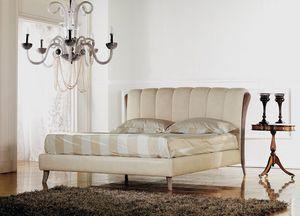 Ikarus lit, Lit de luxe classique, insert bois avec décapé polissage