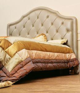 Kate, Lit double classique avec tête de lit rembourrée tufted