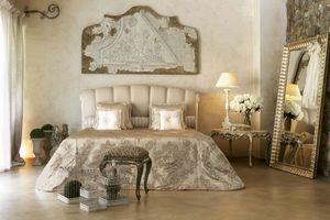Kronos lit, Lit classique avec insert laqué ivoire et d'argent