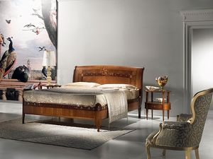L334 Cornucopia lit, Les lits en bois, luxe classique, m�re de incrustations de nacre