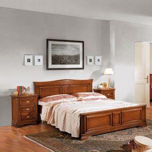 La Maison MAISON624T, Lit double avec tête de lit profilée