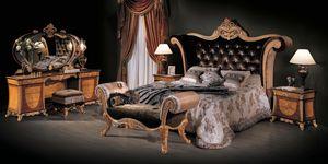 Lit 3131, Lit classique avec tête de lit en velours