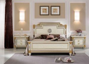 Liberty lit, Lit de luxe à stlye classique, avec des décorations faites à la main, matériaux de haute qualité