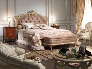 lit Art. 907, Lit de style Louis XV, pour le luxe chambre double