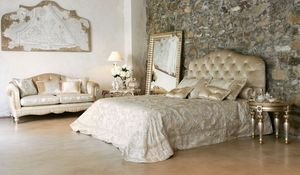 Matisse lit, Lit de luxe classique avec tête de lit tuftée