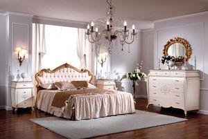 OLIMPIA B / Lit avec tête de lit rembourrée, Lit double de luxe, tête de lit matelassé