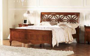 Olympia lit perforé, Lit avec tête de lit perforé, fait main