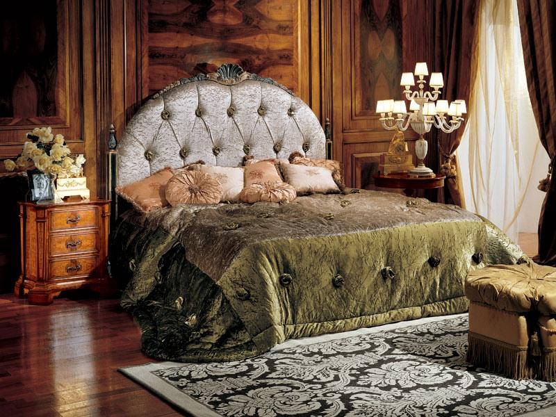 Paradise bed, Lit avec tête de lit capitonnée upholtered