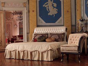 Rembrant lit, Lit en bois, sculpté à la main, des décorations de feuilles d'or