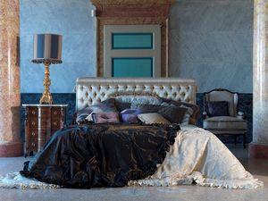 Tintoretto, Lit luxueux, capitonné, pour badrooms classiques