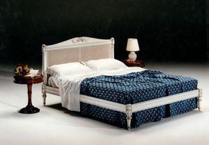 2605 lit, Lit avec tête de lit en canne Vienna