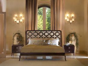 Art. VL726, Les lits en bois, rembourré, avec des incrustations contrastées