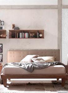 Glam, Lit en bois, avec tête de lit rembourrée