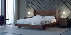 Ironwood Belt lit, Lit avec tête de lit haute et cadre en bois d'eucalyptus