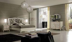 New Age Art. NA015, Lit avec une décoration élégante sur la tête de lit