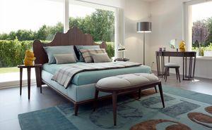 Santiago lit, Lit avec tête de lit en bois en forme