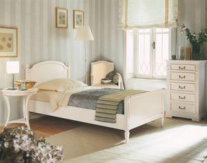Villa Borghese lit simple 2370, Lit simple style Directoire