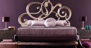 Viola Art. 930, Lit avec tête de lit sculptée en volutes de bois massif