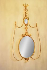 MIROIR ART. CR 0043, Miroir ovale en bois sculpté pour les hôtels de luxe
