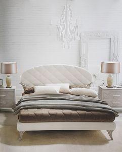 Ninfea, Lit avec tête de lit en faux cuir